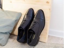 Туфли кожаные синие London на кожаной подошве на кожаной подкладке