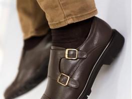 Туфли кожаные коричневые на кожаной подкладке