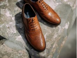 Туфли кожаные коричневые (рыжие)