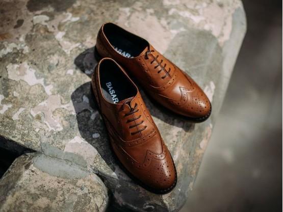 Туфли кожаные коричневые (рыжие)  на кожаной подкладке