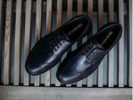 Туфли кожаные синие