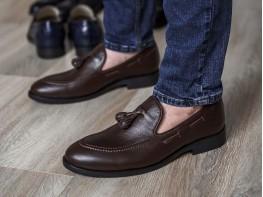 Туфли кожаные коричневые на кожаной подкладке  на кожаной подкладке
