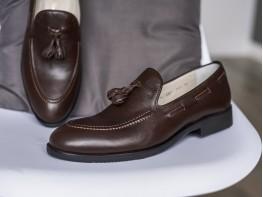Туфли кожаные коричневые