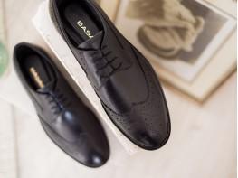 Туфли кожаные черные на кожаной подкладке