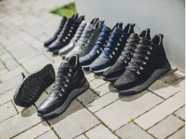 Ботинки нубук черные на меху