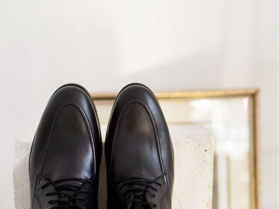 Ботинки кожаные черные