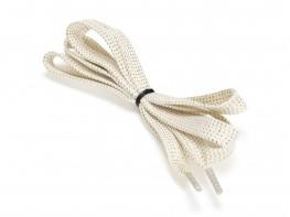 Шнурки белые (с золотым) (110 см)