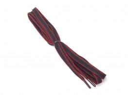 Шнурки черные с бордовым (150 см)