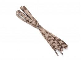 Шнурки бежевые с коричневым (150 см)
