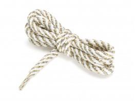 Шнурки белые (с золотым) (90 см)
