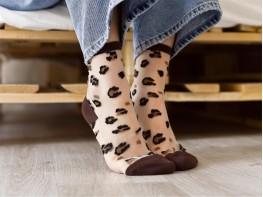 Носки коричневый (кофе)