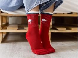 Носки красные (бордо)