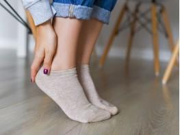 Носки низкие хлопковые бежевый меланж