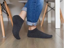 Носки низкие хлопковые серые