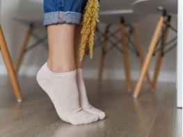 Носки низкие хлопковые розовые