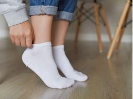 Носки низкие хлопковые белые