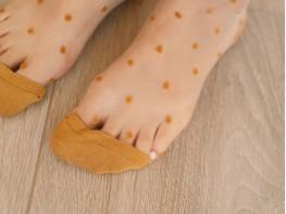 Носки-сетка золотые