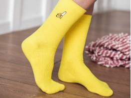 Носки с вышивкой банана