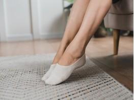 Носки невидимые хлопковые бежевые (меланж)