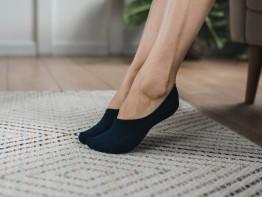 Носки невидимые хлопковые темно-синие