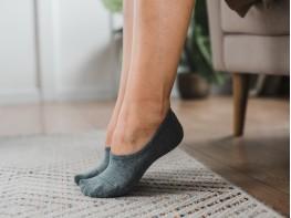 Носки невидимые хлопковые серые