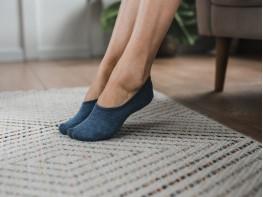 Носки невидимые хлопковые индиго