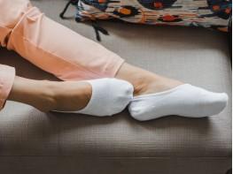 Носки невидимые хлопковые белые