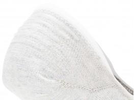 Носки невидимые хлопковые серые с белыми полосками