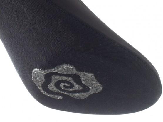 Носки невидимые нейлоновые черные с хлопковой подошвой