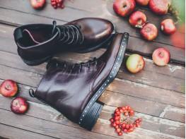 Ботинки кожаные бордовые Mirror на байке