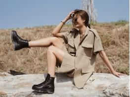 Ботинки кожаные черные на меху