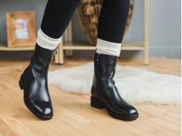 Ботинки кожаные черные Emotional на байке
