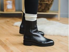 Ботинки кожаные черные Emotional на меху