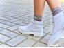 Ботинки кожаные белые Frozen на меху