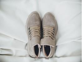 Ботинки нубук серо-бежевые Energy на байке