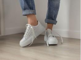 Кеды кожаные белые Miracle