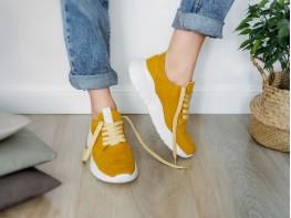 Кроссовки замшевые желтые (карри) Ultraspace
