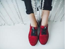 Кроссовки замшевые красные Ultraspace на кожаной подкладке
