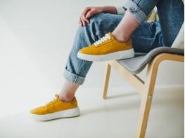 Кеды кожаные желтые (карри) Incredible на кожаной подкладке