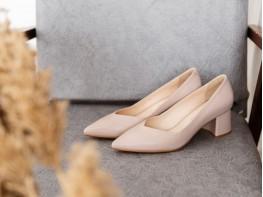 Туфли кожаные бежевые (крем) на кожаной подкладке