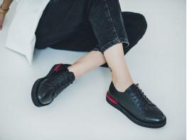 Туфли кожаные черные Bubble на кожаной подкладке