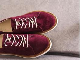 Туфли замшевые бордовые Bubble на кожаной подкладке