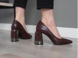 Туфли кожаные бордовые Classical