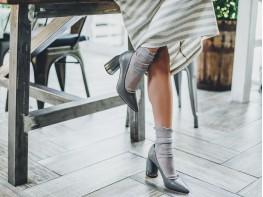 Туфли кожаные серые Classical