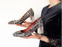 Туфли кожаные бежевые Victoria на кожаной подкладке