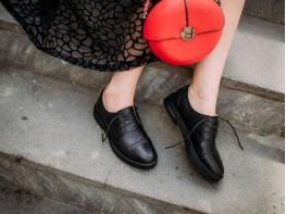 Туфли кожаные черные Upstage
