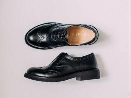 Туфли кожаные черные Italy