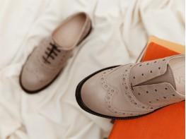 Туфли кожаные коричневые Italy на кожаной подкладке