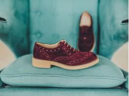 Туфли замшевые бордовые (вино) Italy