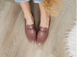 Лоферы кожаные розовые на кожаной подкладке